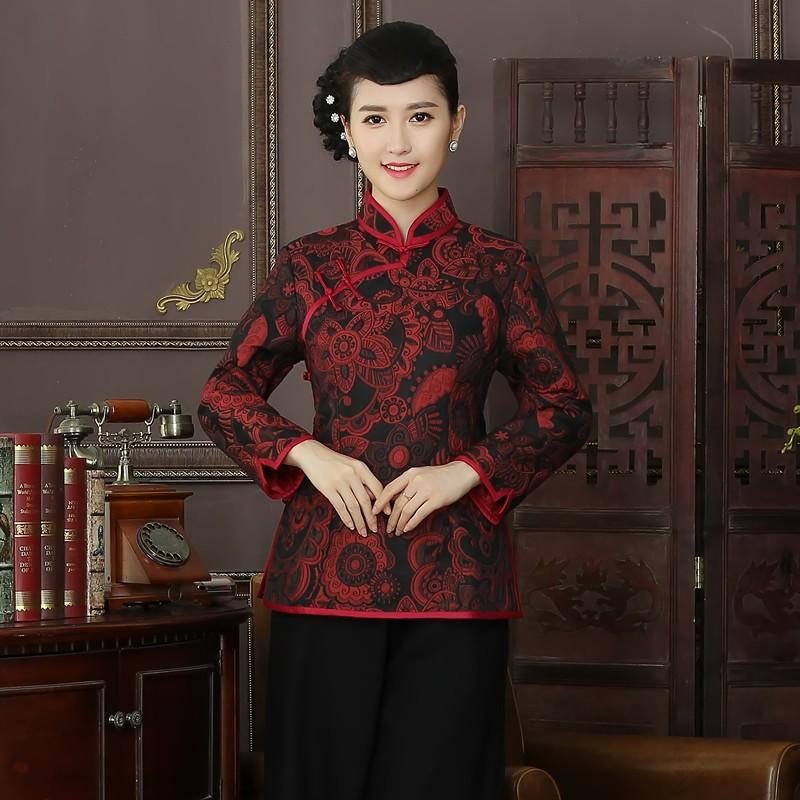 Lovely Paisley Pattern Jacquard Chinese Qipao Jacket