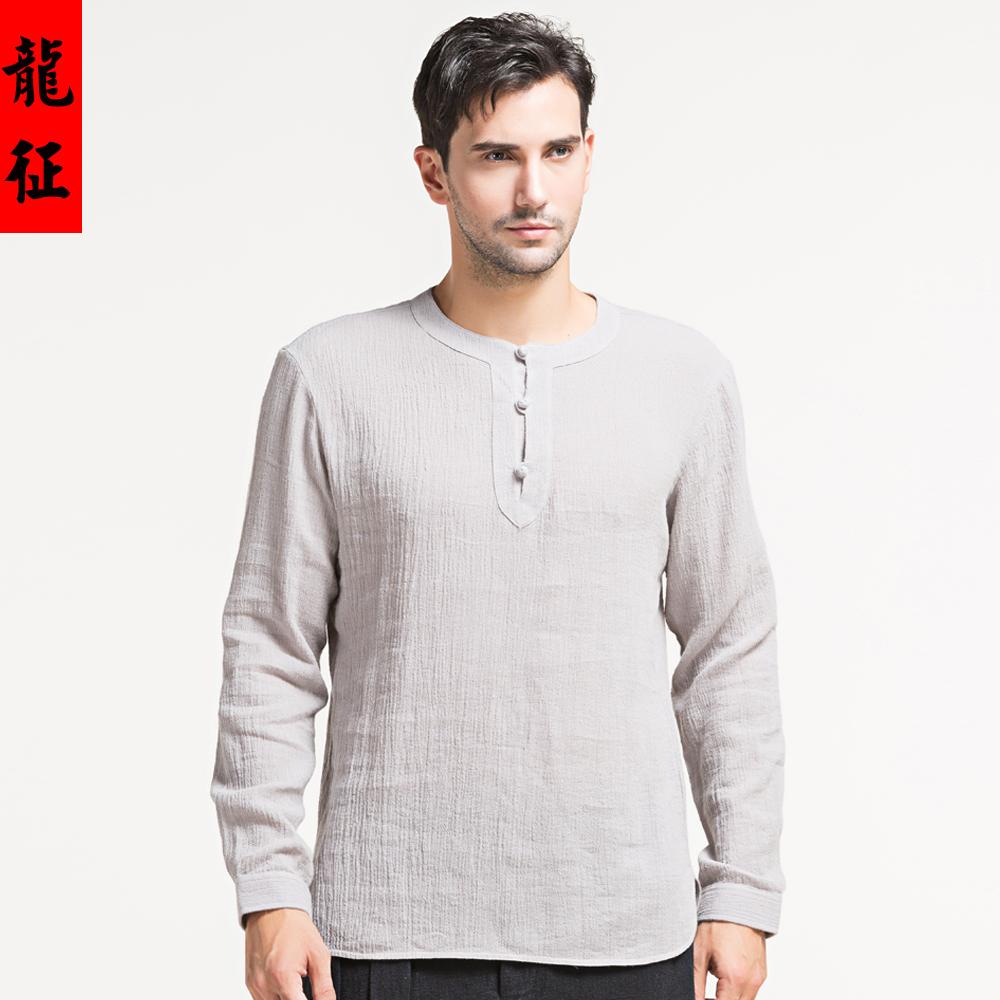 Fabulous long sleeve scoop neck oriental style shirt for Long sleeve scoop neck shirt