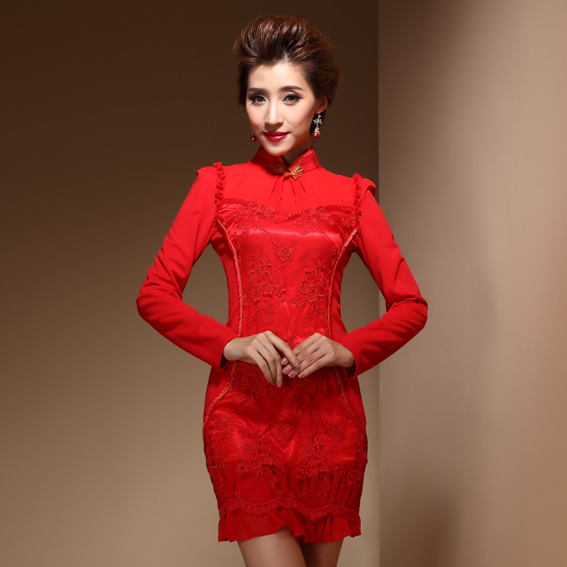 Prodigious Modern Red Wedding Cheongsam Qipao Dress