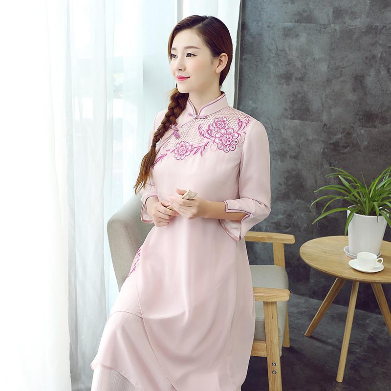 Appealing Multi Layers Cheongsam Qipao Dress - Pink