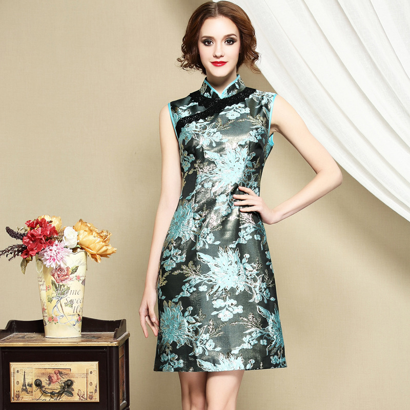 Fabulous Modern Sleeveless Qipao Cheongsam Dress