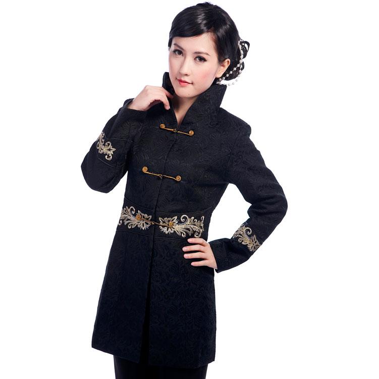315e0c2a4 Charming Black Jacquard Chinese Tang Jacket - Chinese Jackets ...