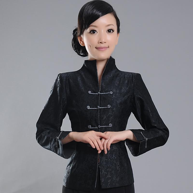 Outstanding Floral Jacquard Jacket - Black