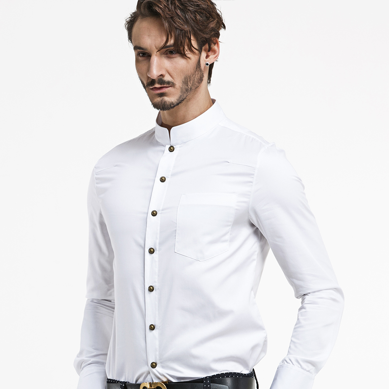 Mandarin Collar Dress Shirts For Men