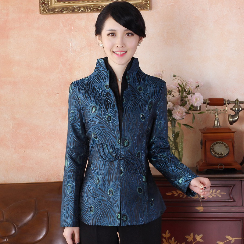 Elegant Mandarin Collar Open Neck Chinese Tang Jacket