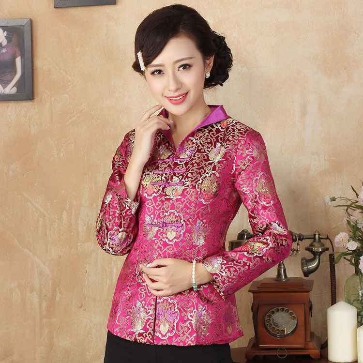 Golden Flowers Purple Brocade Jacket