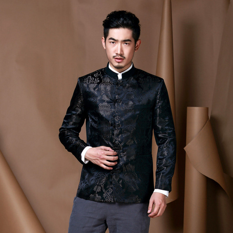 f0a490c71 Fabulous Brocade Modern Chinese Tang Jacket - Black - Chinese ...