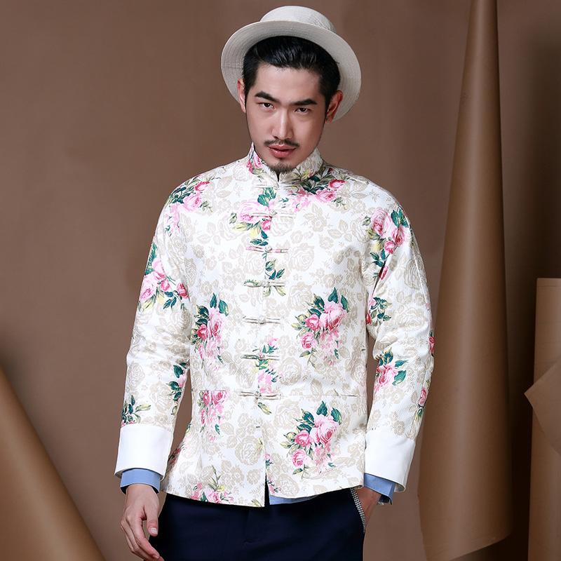 79208413c Breathtaking Jacquard Modern Chinese Tang Jacket - White - Chinese ...