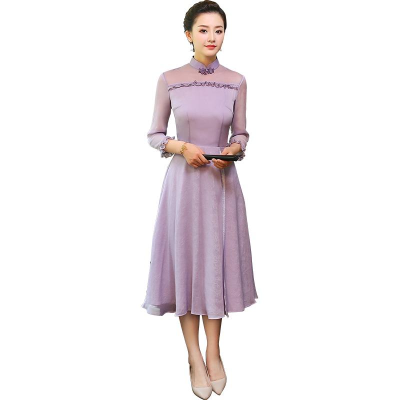 Elegant Modern Lace Cheongsam Qipao Style Dress
