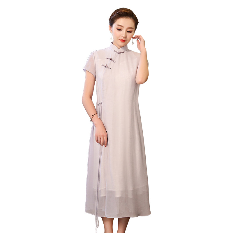 Lovely Light Purple Qipao Choeongsam Chinese Dress
